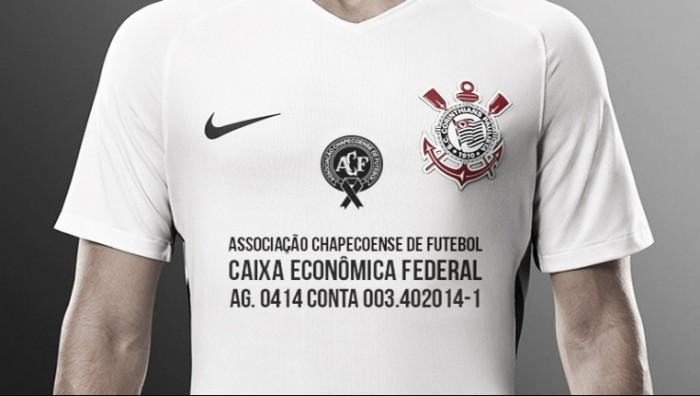 Corinthians divulga uniforme em homenagem à Chapecoense