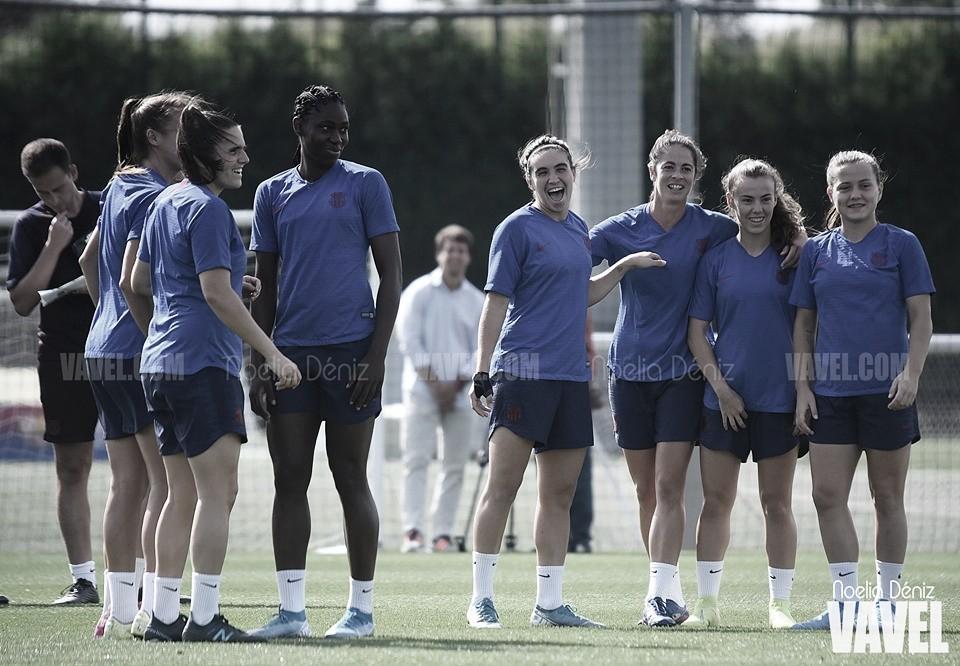 Último entrenamiento del Barça Femenino antes de visitar Vallecas