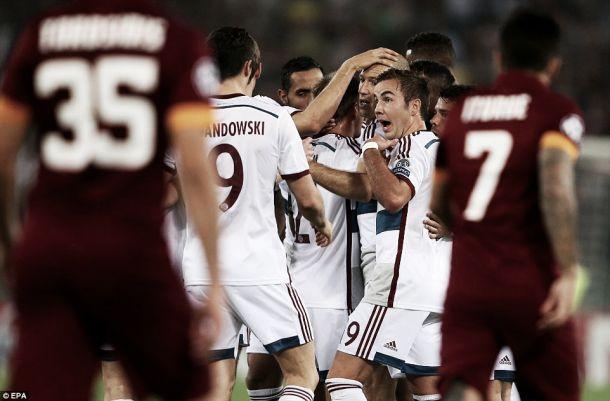 Sete golos do Bayern vergam Roma e definem recorde