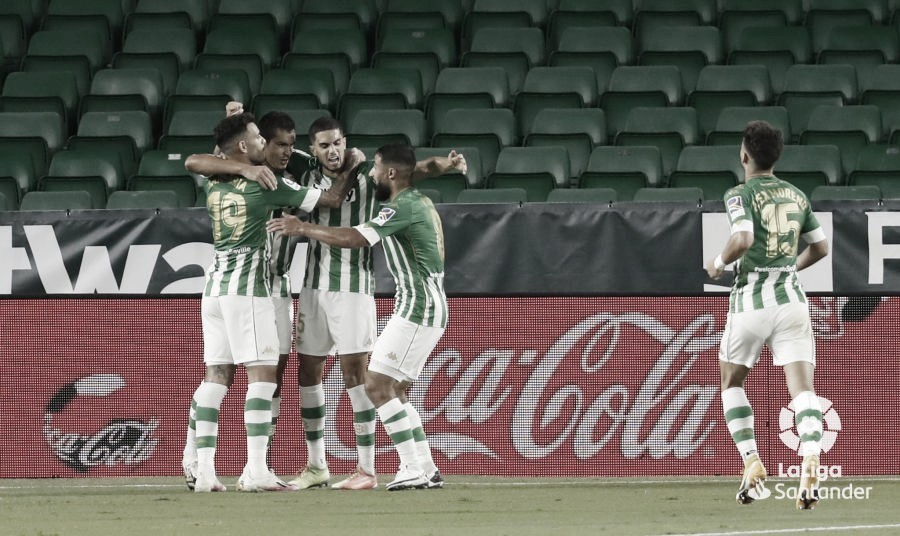 Jugadores del Real Betis celebrando un gol | Fotografía: LaLiga