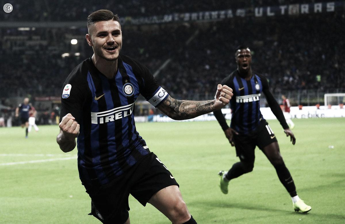Icardi marca nos acréscimos e Internazionale vence Milan no Derby della Madonnina