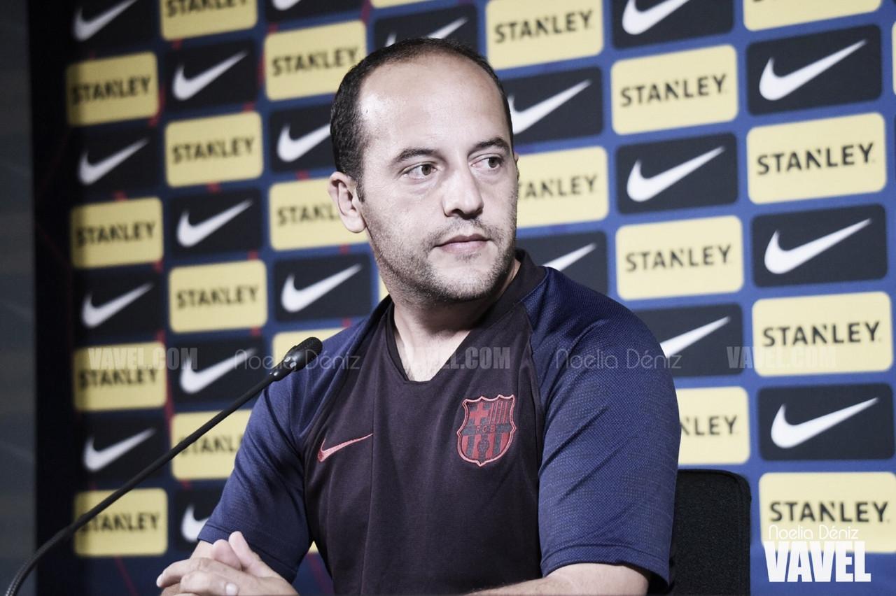 """Lluís Cortés: """"Ha sido un partido que nos ha servido para coger minutos, confianza y estamos muy contentos"""""""