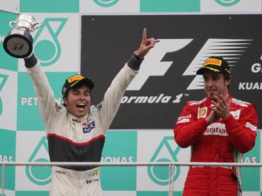 Sergio Pérez da a México un podio 41 años después