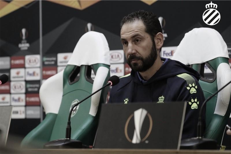 """Pablo Machín: """"Debemos sentirnos unos privilegiados por poder competir en UEFA Europa League"""""""
