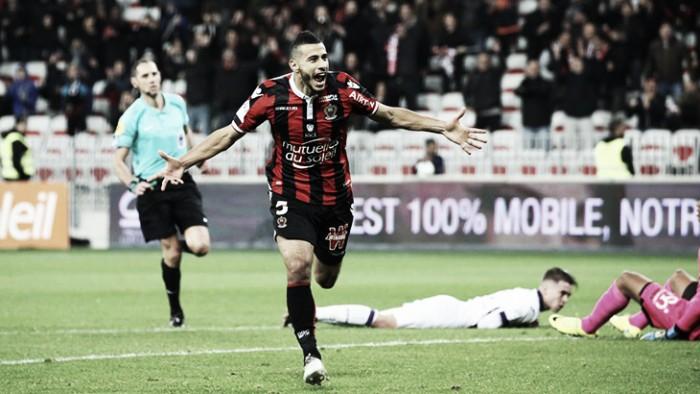 Belhanda anota golaço por cobertura, Nice vence Toulouse e recupera liderança