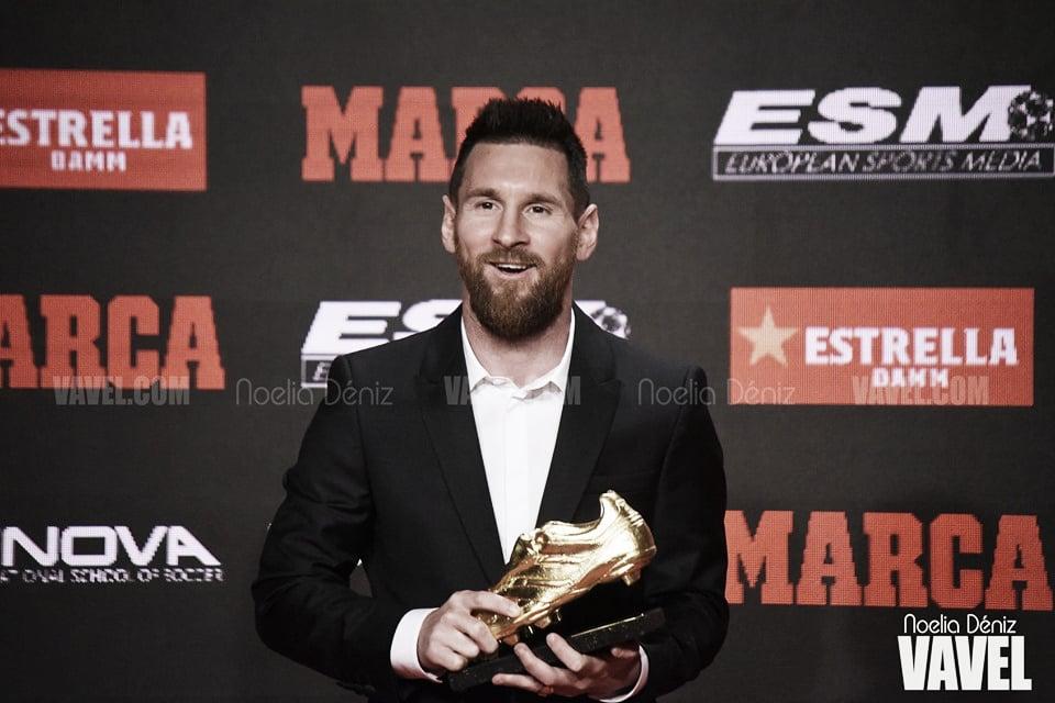 Leo Messi recoge su sexta Bota de Oro