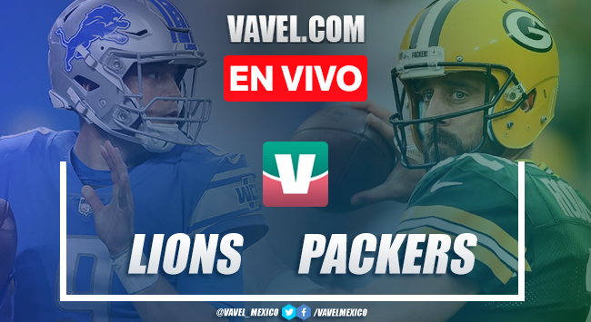 Lions vs Packers EN VIVO transmisión TV online en NFL (16-13)