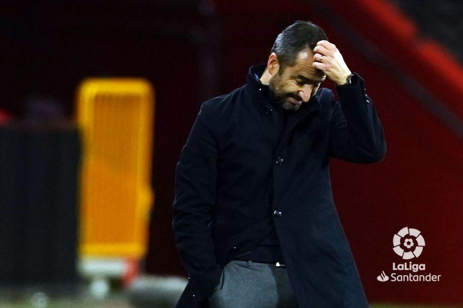 Diego Martínez, aislado en Granada por Covid-19