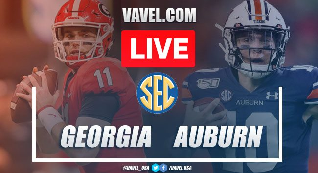 Score Georgia Bulldogs 21-14 Auburn Tigers in 2019 The Deep South's Oldest Rivalry