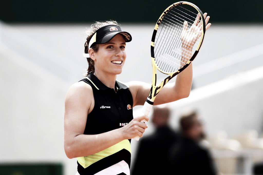 Konta vence Stephens e garante vaga nas semifinais de Roland Garros