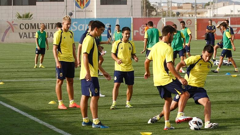 El Villarreal CF vuelve al trabajo tras el día de descanso