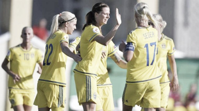 No Kosovare Asllani in Sweden's squad for Olympic qualifiers, but there is still a chance