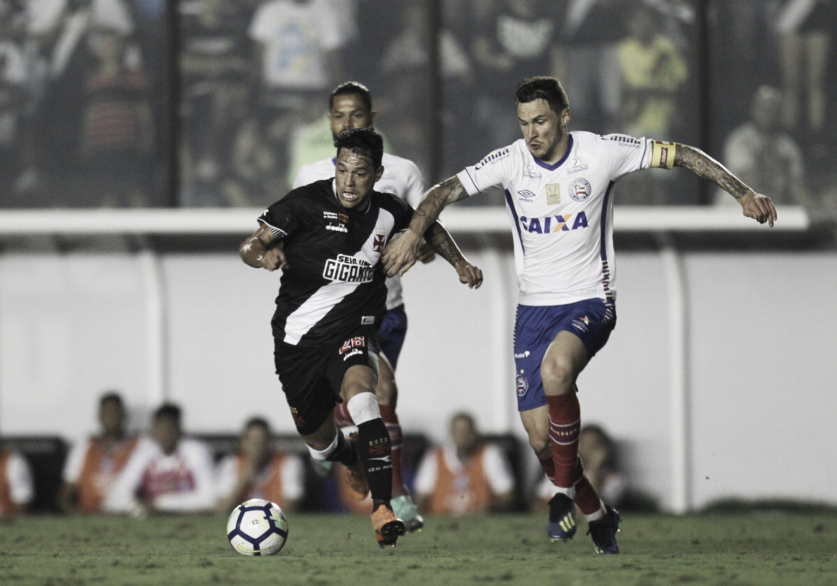 """Mesmo com poucas chances durante partida, Tiago exalta atuação do Bahia: """"Complicado jogar aqui"""""""