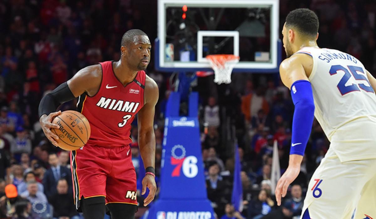 NBA playoffs - Wade sontuoso: Miami strappa il fattore campo ai 76ers, serie sull' 1-1