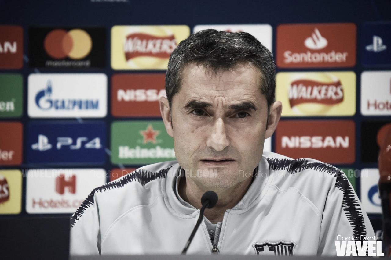 """Ernesto Valverde: """"Tenemos que plantearnos el partido como si no hubiese habido ida"""""""