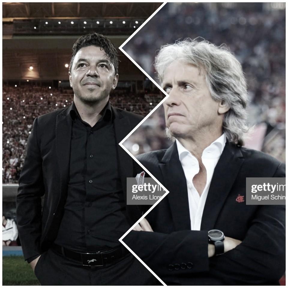 Marcelo Gallardo vs Jorge Jesús: los profesores del banco de suplentes