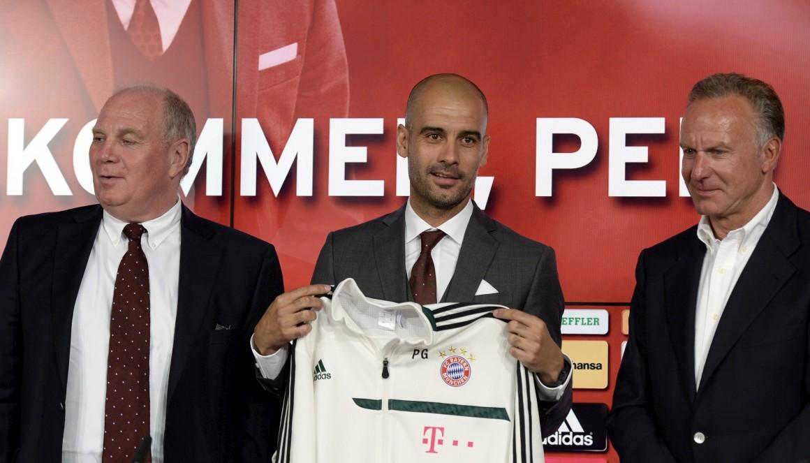 Apresentado pelo Bayern, Guardiola se diz preparado para o desafio