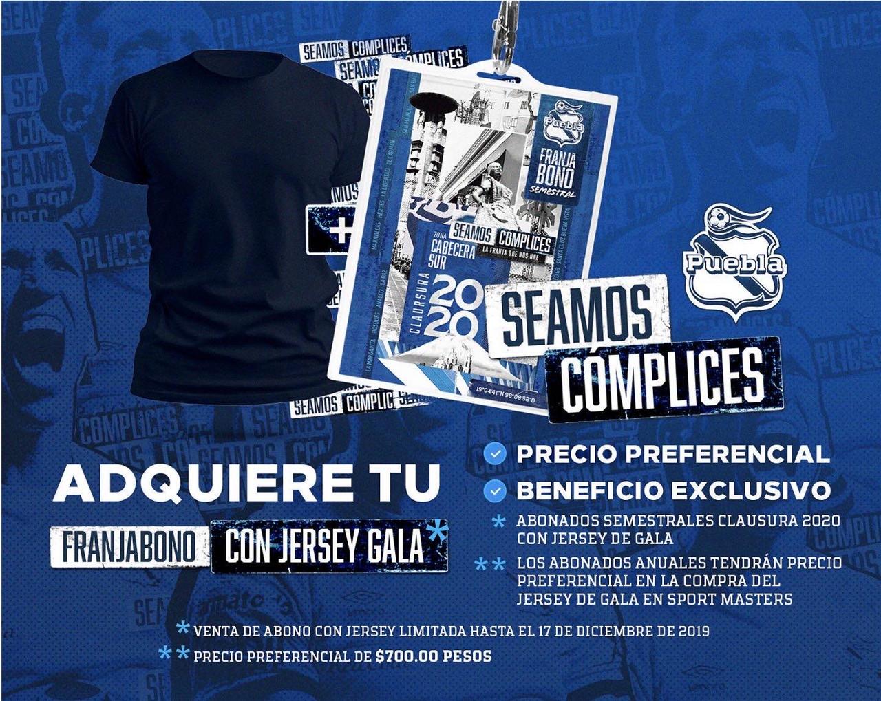 Puebla anuncia Franjabono con jersey de gala incluido