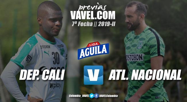 Previa Deportivo Cali vs. Atlético Nacional: 'verdes' y una disputa por el liderato