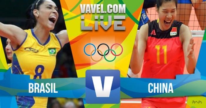 Brasil perde para a China no vôlei feminino dos Jogos Olímpicos (2-3)