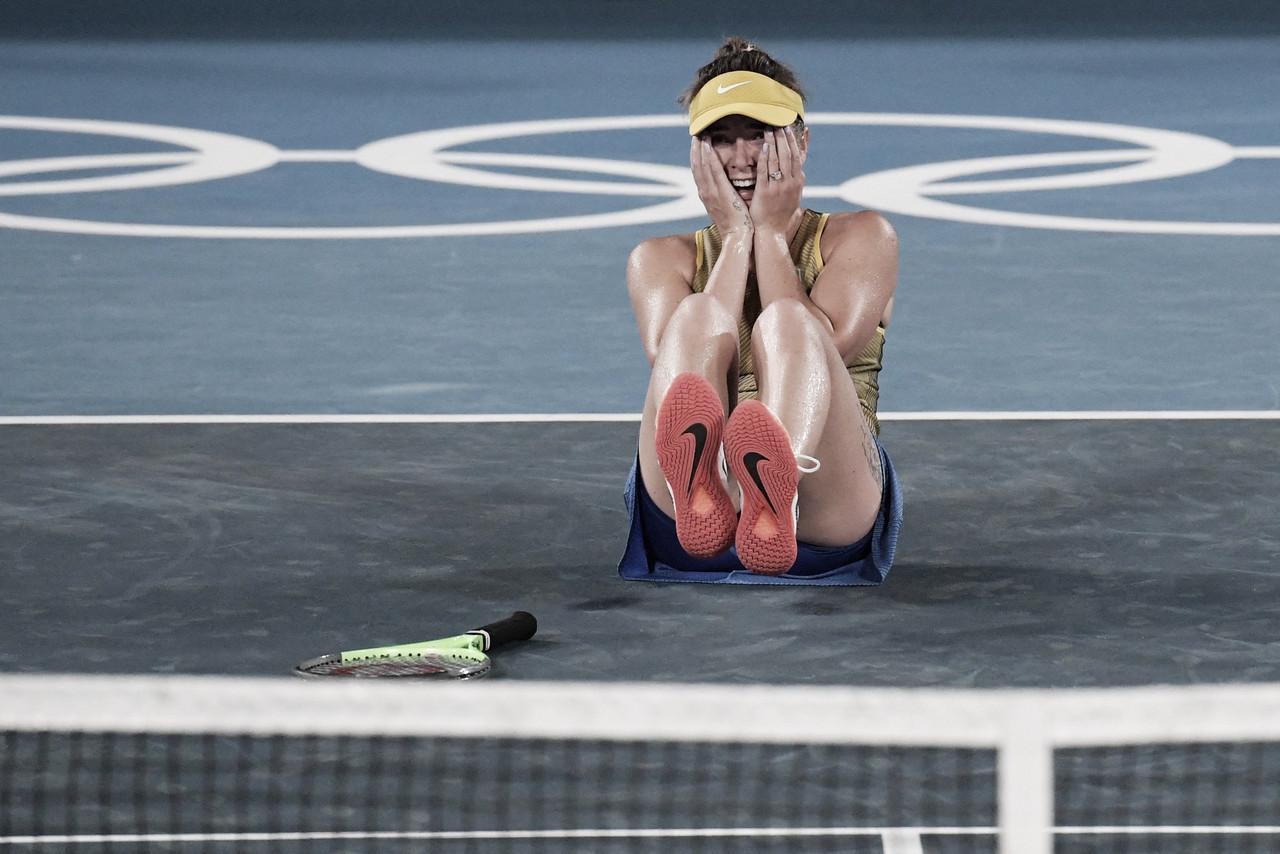 Svitolina arranca virada contra Rybakina e garante bronze inédito para Ucrânia em Olimpíadas