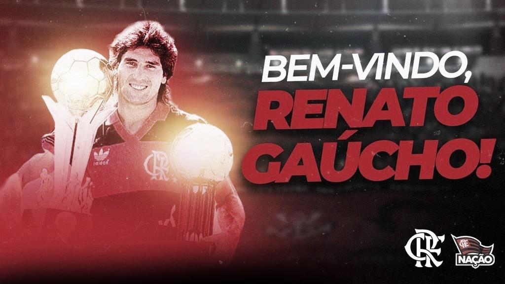 Casamento oficializado! Flamengo anuncia Renato Gaúcho