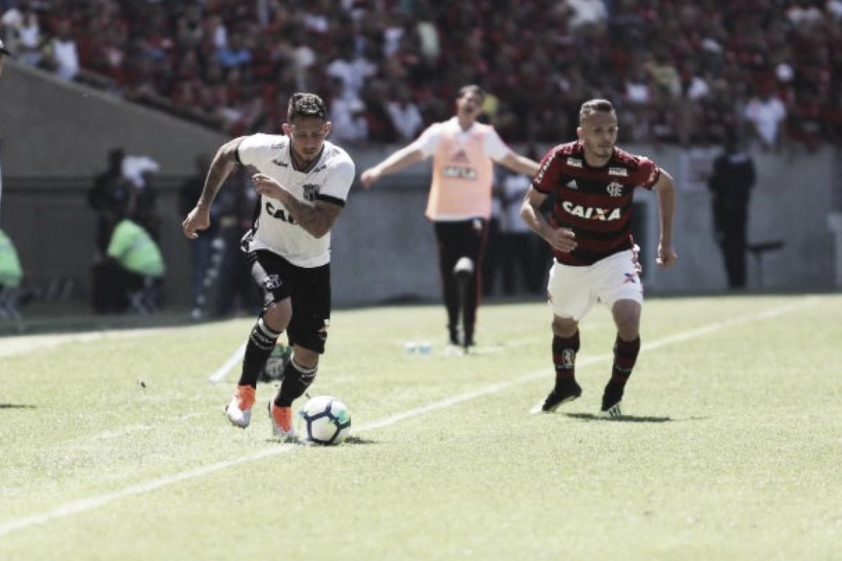 Com gol nos acréscimos, Ceará bate Flamengo e ganha fôlego na zona de rebaixamento