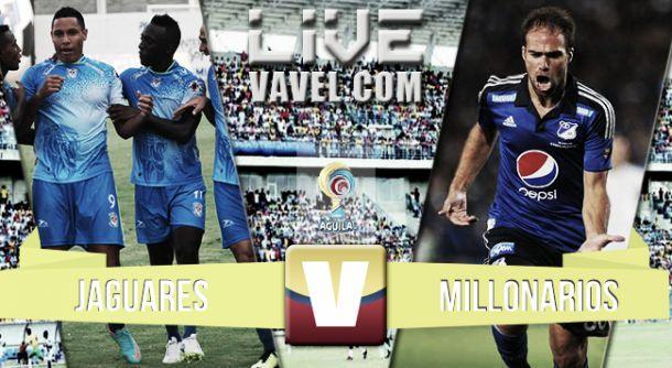 Resultado Jaguares vs Millonarios en la Liga Águila 2015 (3-3)
