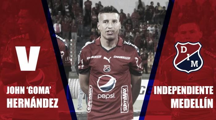 2017-II en azul y rojo: John 'Goma' Hernández
