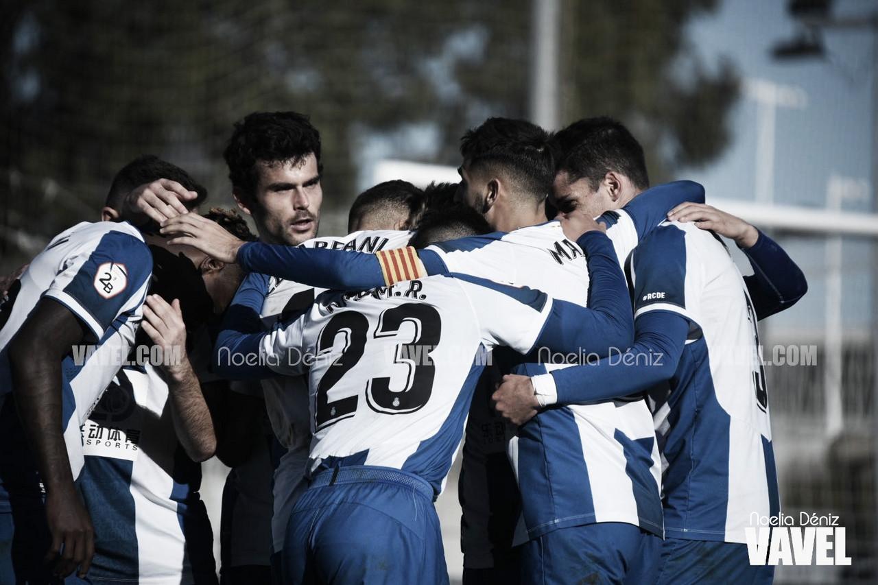 El RCD Espanyol B sigue de fiesta tras imponerse al Llagostera