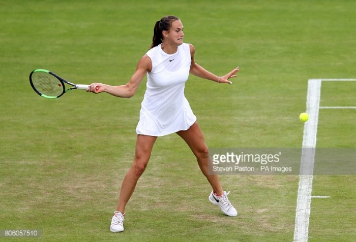 Wimbledon 2017: Aryna Sabalenka wins Grand Slam debut over Irina Khromacheva