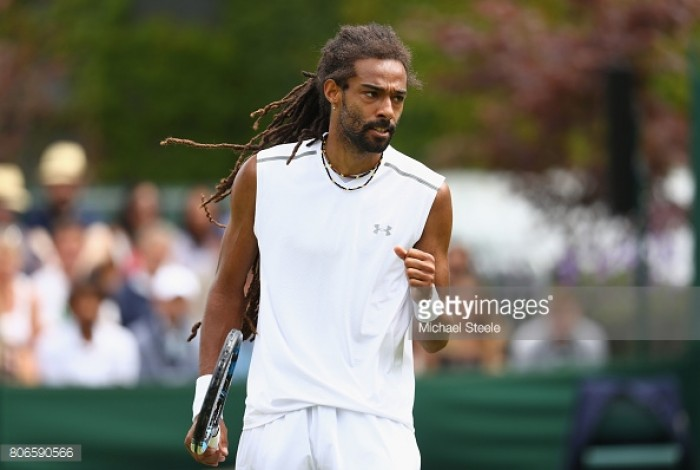 Wimbledon 2017: Dustin Brown wins feisty affair over Joao Sousa