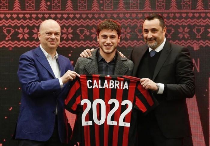 Calciomercato Milan, Ufficiale: Calabria rinnova fino al 2022