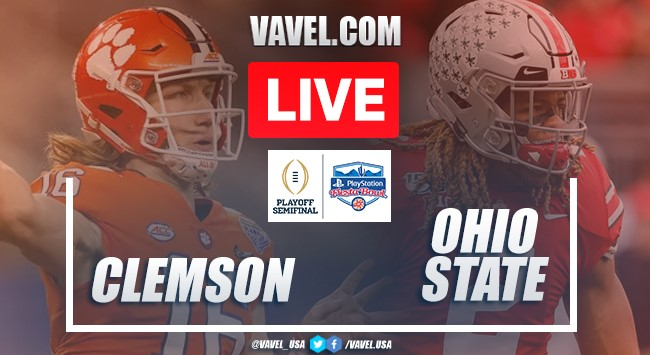 Clemson Tigers vs. Ohio State Buckeyes: Live Stream, Score Updates in College Football Semifinal (29-23)
