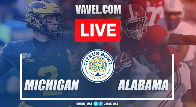Michigan vs. Alabama: LIVE Stream Online and Score Updates (16-35)