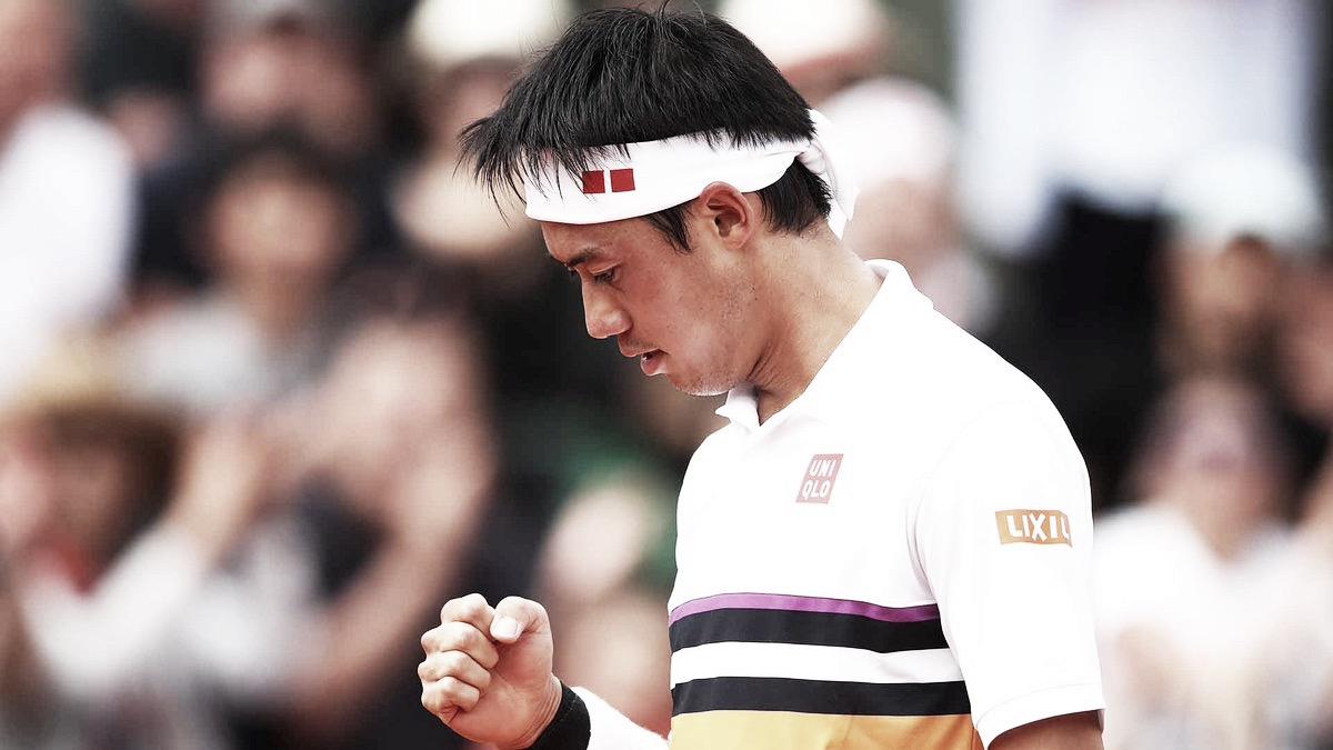 Após mais de 4h de batalha, Nishikori vence Djere e avança às oitavas em Roland Garros
