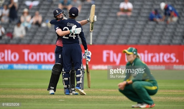 England reach Women's Cricket World Cup Final following thrilling two-wicket win over South Africa