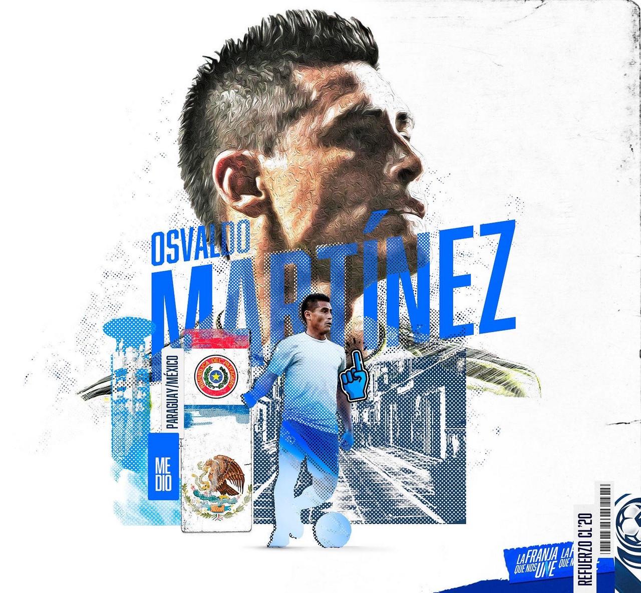 Osvaldo Martínez refuerza al Club Puebla