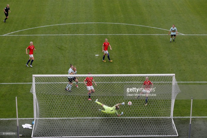 Euro 2017: Janice Cayman buoyant after win