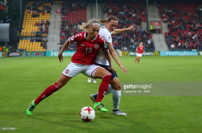 Euro 2017: Denmark's Stine Larsen pleased with progression after tough games
