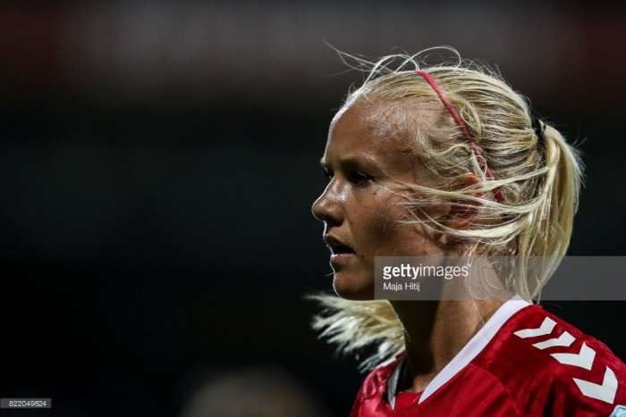 Pernille Harder enjoying the direct attacking play in Germany