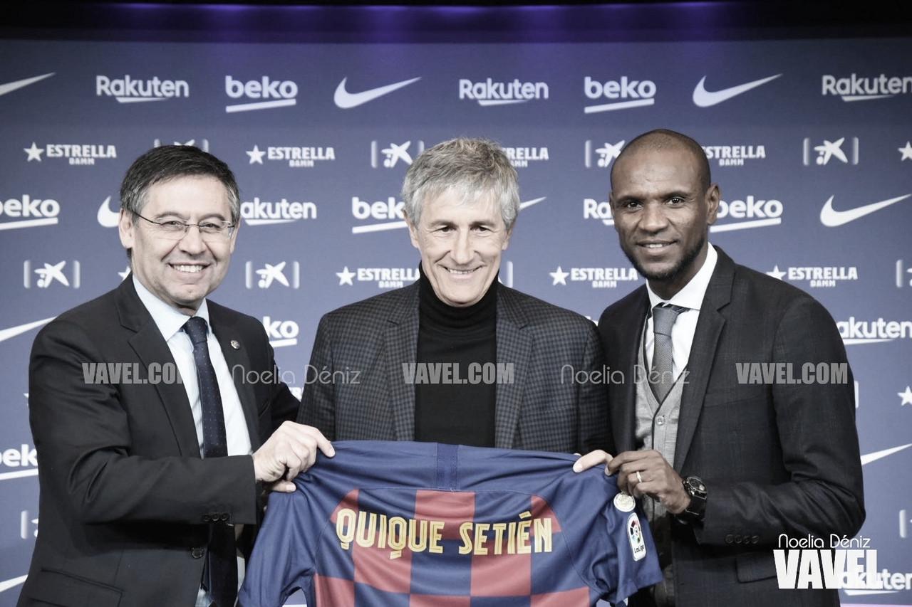 """Após demissão de Valverde, Setién assina contrato com Barcelona: """"Temos clara a filosofia"""""""