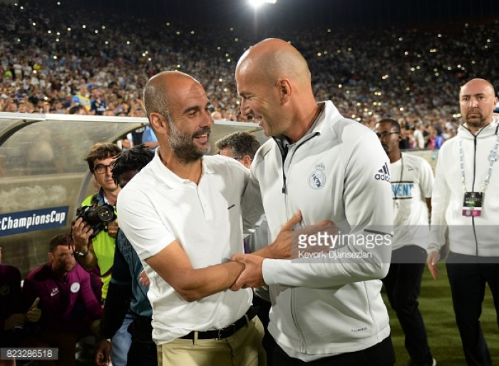 """Pep Guardiola """"proud"""" of Manchester City's performance in convincing Madrid victory"""