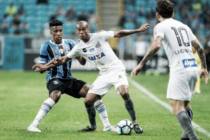 Jogo Santos x Grêmio no Campeonato Brasileiro 2017 (1-0)