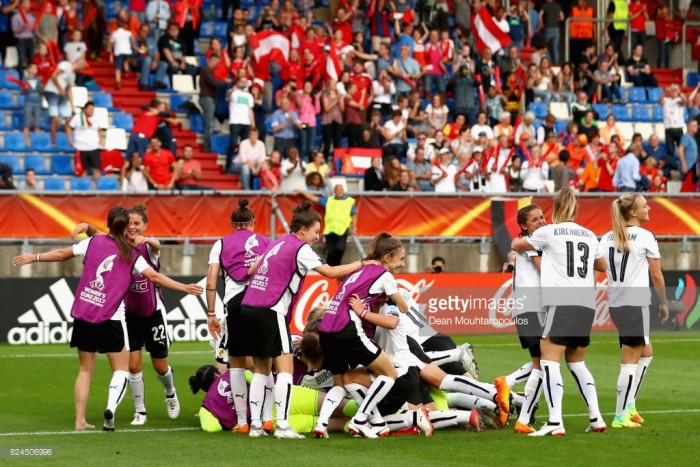 Euro 2017: Austria (5) 0-0 (3) Spain - Quarter-final decided from the spot