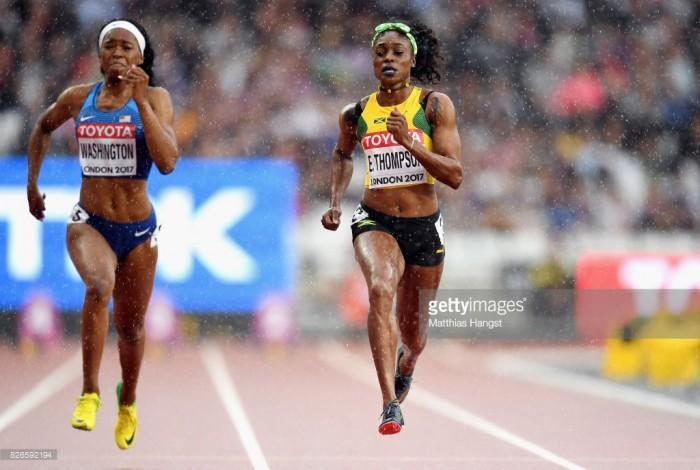 Olympic champion Elaine Thompson thunders into 100m semi-finals alongside three Brits