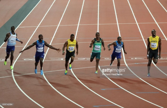 Justin Gatlin stuns Usain Bolt in the Jamaican's final 100m race