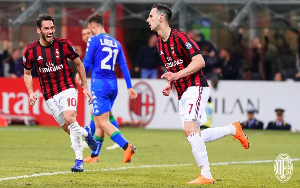 Kalinic risponde a Politano. Milan - Sassuolo finisce 1-1