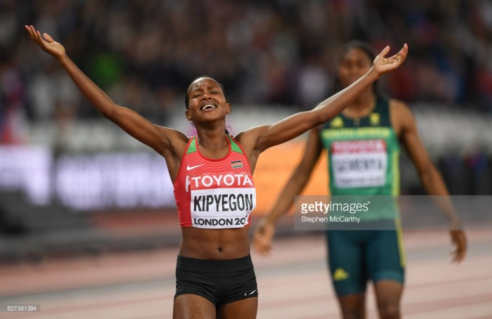London 2017: Laura Muir misses out on 1500m medal as Faith Kipyegon wins thrilling final