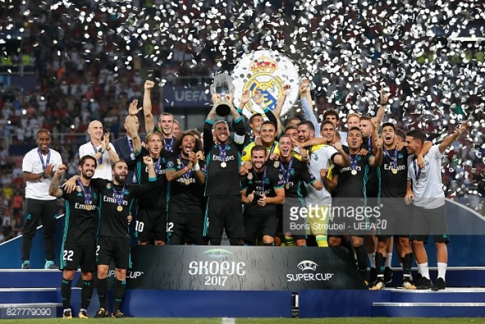 Real Madrid 2-1 Manchester United: Galácticos edge past Red Devils to lift UEFA Super Cup ...